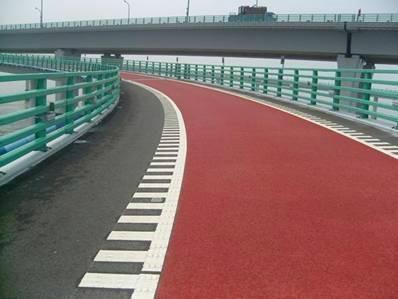 青島彩色防滑警示馬路 1