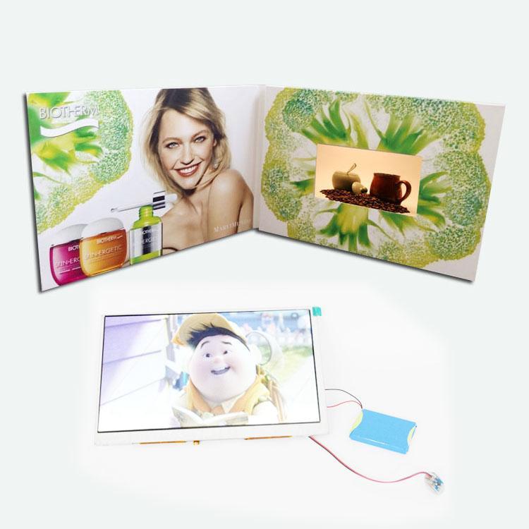 厂家定制5英寸商务视频卡片电子宣传册 2