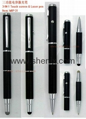 3 in 1 Laser Pointer Touch Stylus Pen for Apple iPad iphone HTC Blackberry