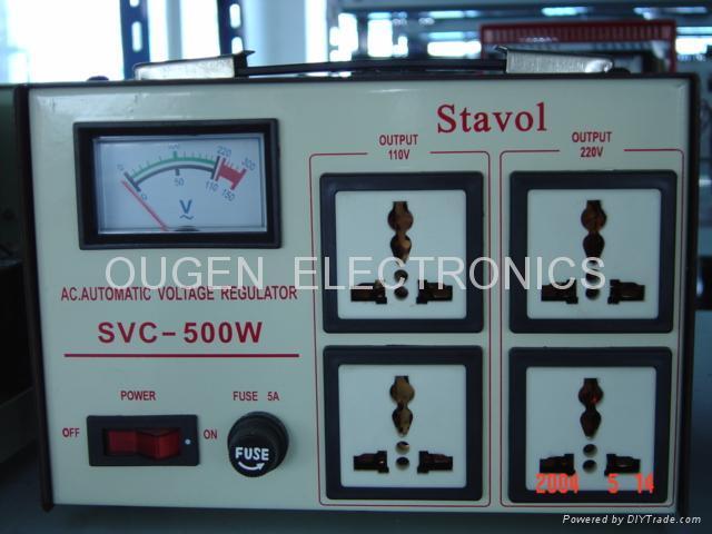 A.C VOLTAGE REGULATOR  SVC-500N-2000N 2