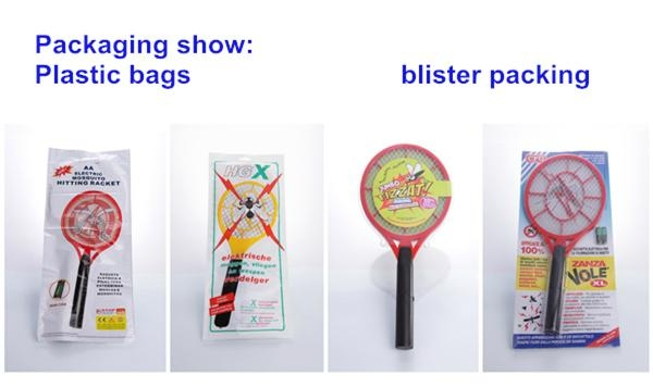 Mosquito swatter rechargeable mosquito racket flat plug  5