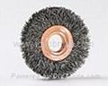 wheel brush copper center-steel-wire
