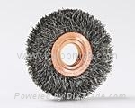 wheel brush copper center-steel-wire
