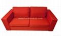 fashion red double sets sofa