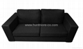 fashion black double sets sofa