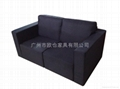 fashion black double sets sofa