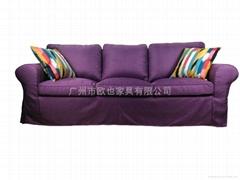 歐式三人沙發