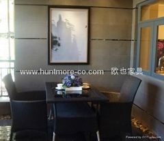 户外沙发系列1(藤椅4个+藤桌)