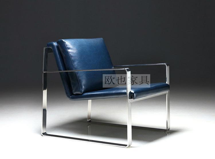 OY-1009时尚不锈钢单椅 3