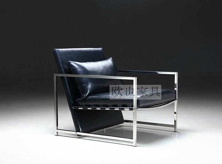 OY-1011时尚不锈钢单椅 4