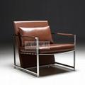 OY-1011时尚不锈钢单椅 1
