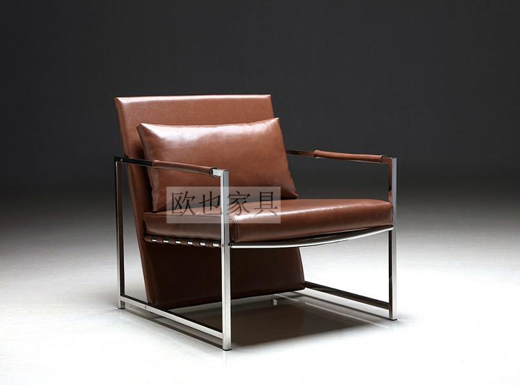 OY-1011时尚不锈钢单椅 5