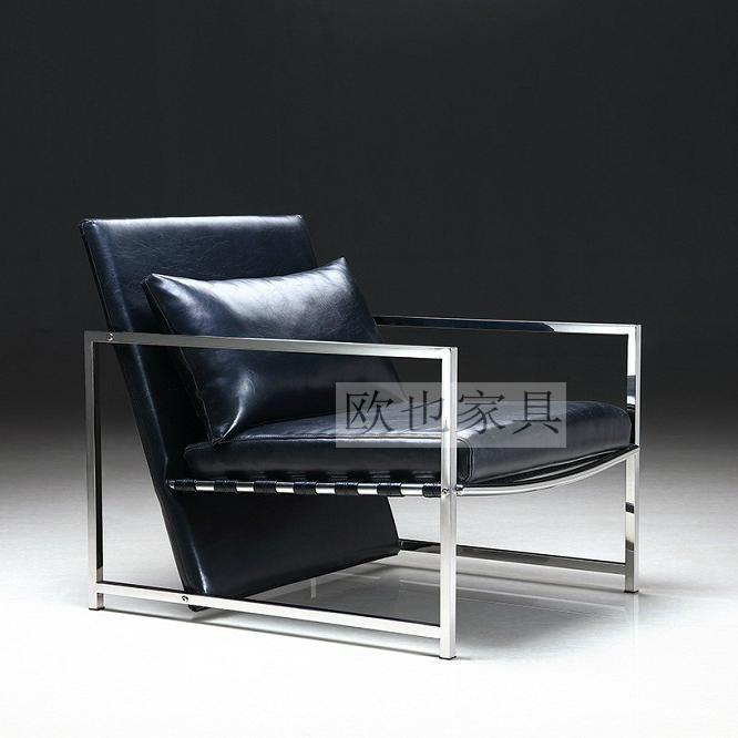 OY-1011时尚不锈钢单椅 2
