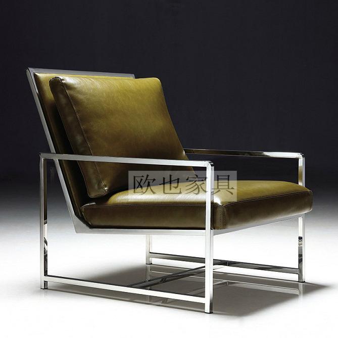 OY-1016时尚不锈钢单椅 1