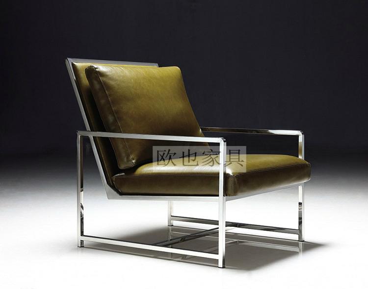OY-1016时尚不锈钢单椅 3