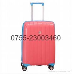 TP品牌拉杆箱万向轮旅行箱超耐磨炫玫红色登机箱学生超轻韩版硬