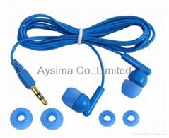 Low cost headphones disposable earbuds