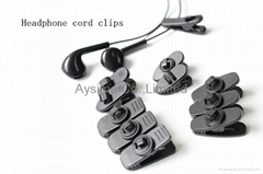 Nip Clip Clamp for headphone earphone microphone cables