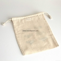 Lingerie bag - hand printed in pink and gold on cotton drawstring bag - knickers 5