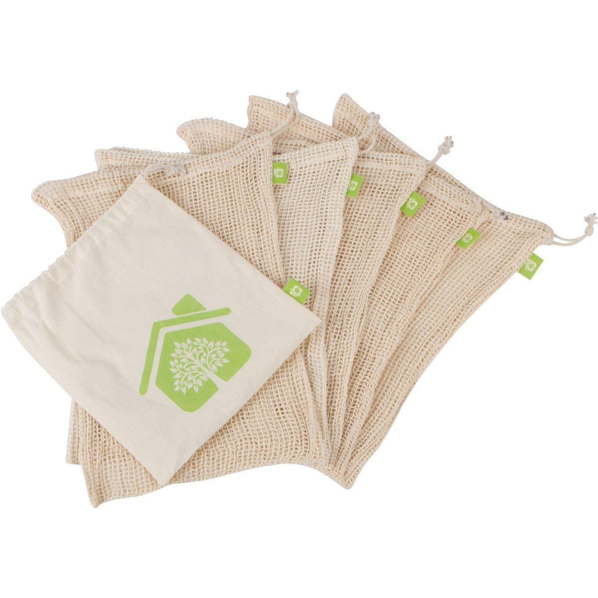 Reusable Produce Bags – Organic Cotton Mesh bags 1