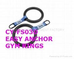 CY-FS03 健身体操便携奥运吊环 ABS 加固可调节吊带
