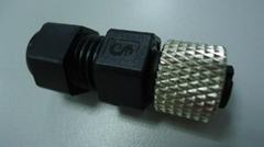 Waterproof M12 assembly connector female