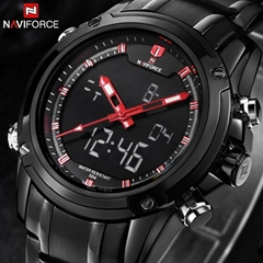 New Watches Men Luxury Brand Sport Full Steel Digital LED watch