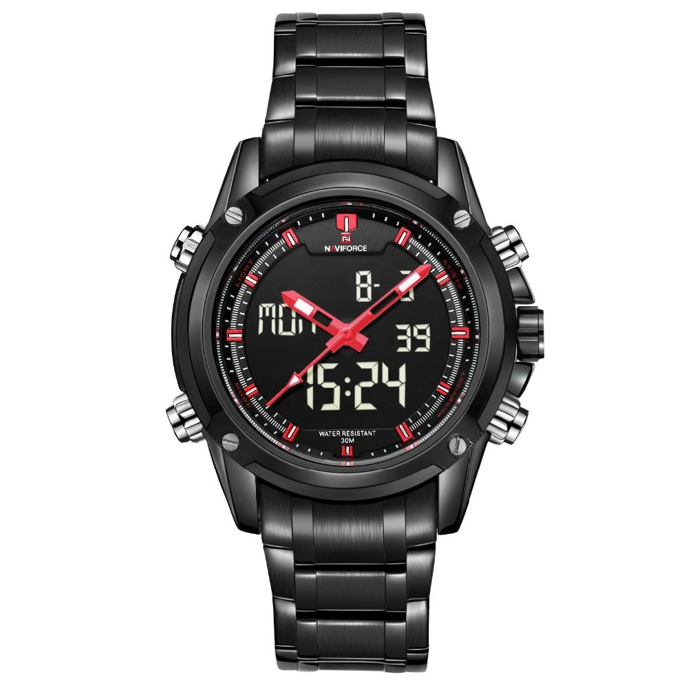 Men's sport watches LED digital military analog quartz watch