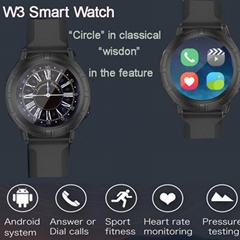EXTREME W3 Smart Watch 1.4'' Circle Screen Wristwatch Android Bluetooth