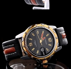 Top Brand Luxury Wristwatches Men Military Leather Sports Watch Auto Date