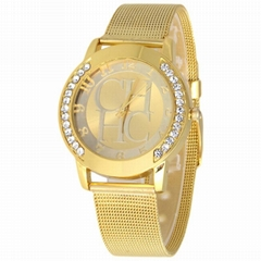 2015 Fashion Rhinestones Top Brand Wristwatches High Luxury  women Quarz  Watch