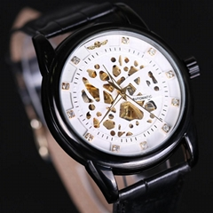 Royal Diamond Design Black Gold Watch Mens Watches Top Brand Luxury