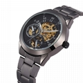 Luxury Black Shenhua Chronograph Clock Automatic Stainless Men watch 1
