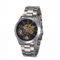 Luxury Black Shenhua Chronograph Clock Automatic Stainless Men watch 7