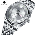 Men's Watch Auto Date Stainless Steel Relojes Back Light Hours Clock 2