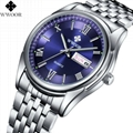 Men's Watch Auto Date Stainless Steel Relojes Back Light Hours Clock 5