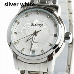 Classic Full Stainless Steel Clasp Watch Calendar Casual Watch