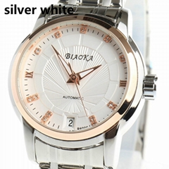 High Quality Waterproof Watches Women Full Stainless Steel Clear Mineral Glass L