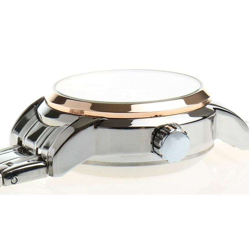 High Quality Waterproof Watches Women Full Stainless Steel Clear Mineral Glass L 14