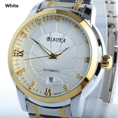 High Quality Waterproof Watches Men Full Stainless Steel Clear Mineral Glass Lux