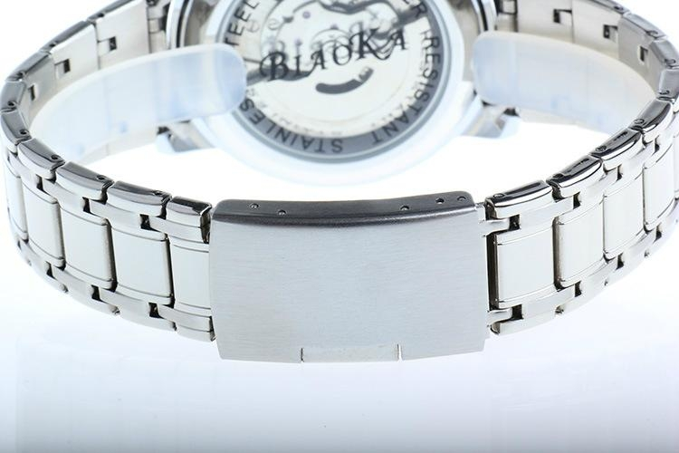 High Quality Waterproof Watches Men Full Stainless Steel Clear Mineral Glass  5