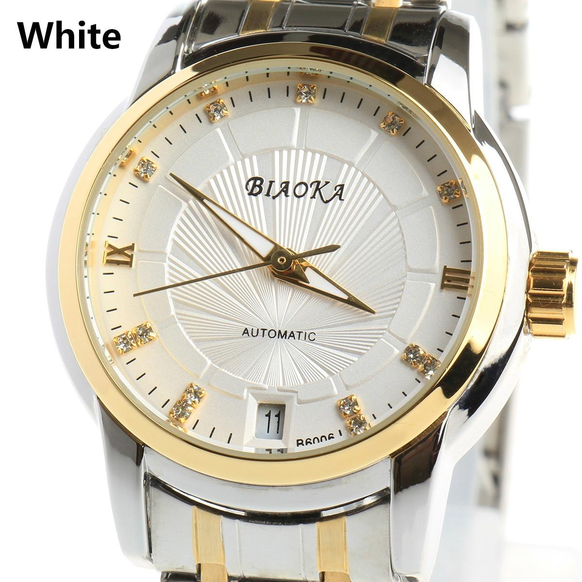 High Quality Waterproof Watches Women Full Stainless Steel Clear Mineral Glass 1