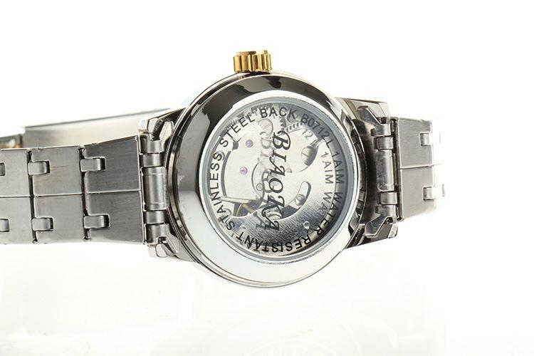 High Quality Waterproof Watches Women Full Stainless Steel Clear Mineral Glass 9