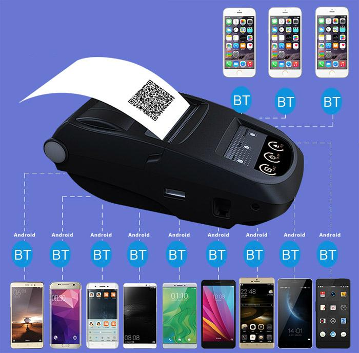 NP100 Portable Bluetooth Thermal Printer 58mm with Micro USB Interface 18