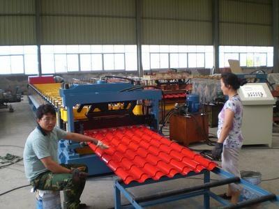 Aluminium Metcopo Roofing Tile Corrugating Machine For