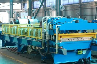 Corrugated And Step Tile Roofing Sheet Making Machine For Sale