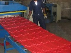 Prepainted Aluminium & Steel Roofing Tile Sheets Roll Forming Machine For Sale