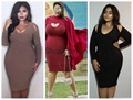 Women's Plus Size Strapless Long-sleeved Club Dress
