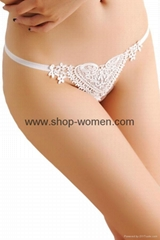 Sweet Lace Heart G-string