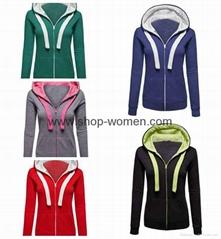 Womens Active Soft Zip Up Fleece Hoodie